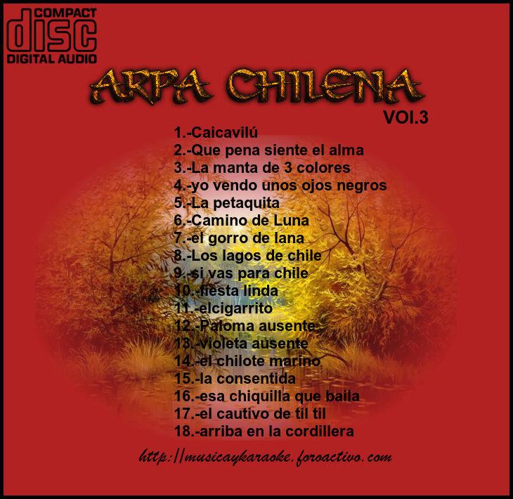 Cd   Maestro Josè Luis araya -Arpa chilena Vol.3 Tras_v12
