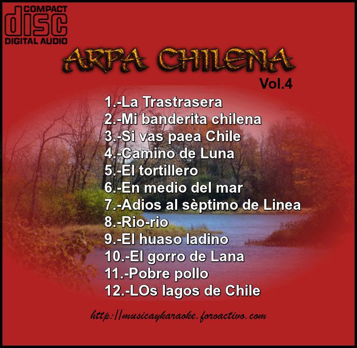 Cd  Maestro Josè Luis Araya- Arpa Chilena Vol.4 Tras_v13