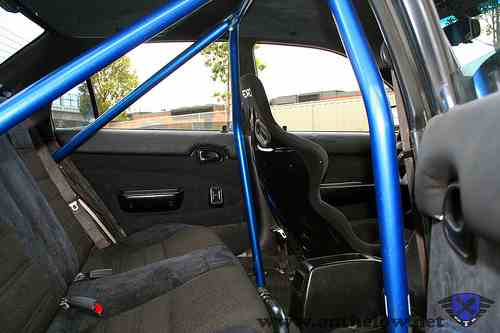 Ishaq's car with a roll cage  49094410