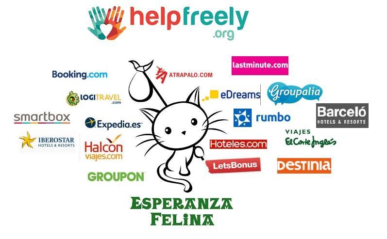 Cómpra y dona a la vez, mira el listado de tiendas con Helpfreely.org Help10