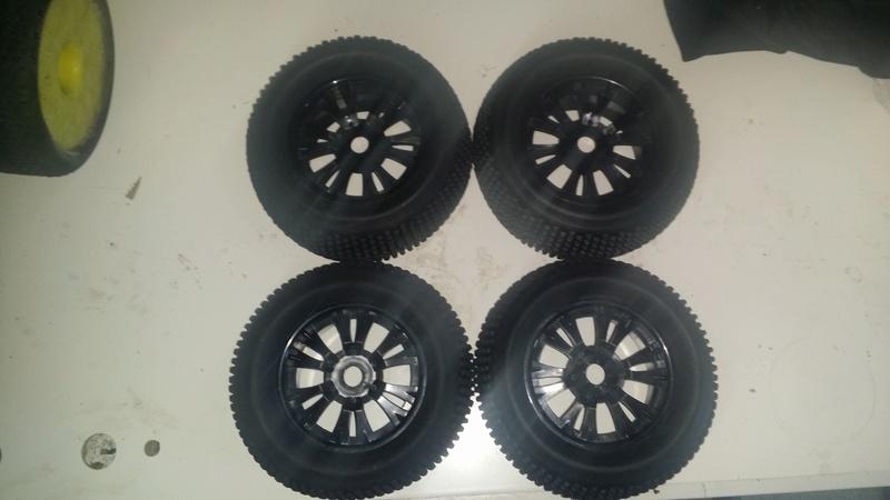 Pneus/jantes ebay SET RC Off Road Monster Truck 17mm Hub Black Wheel Rim & 140mm Tires,Tyre 62012 20170811