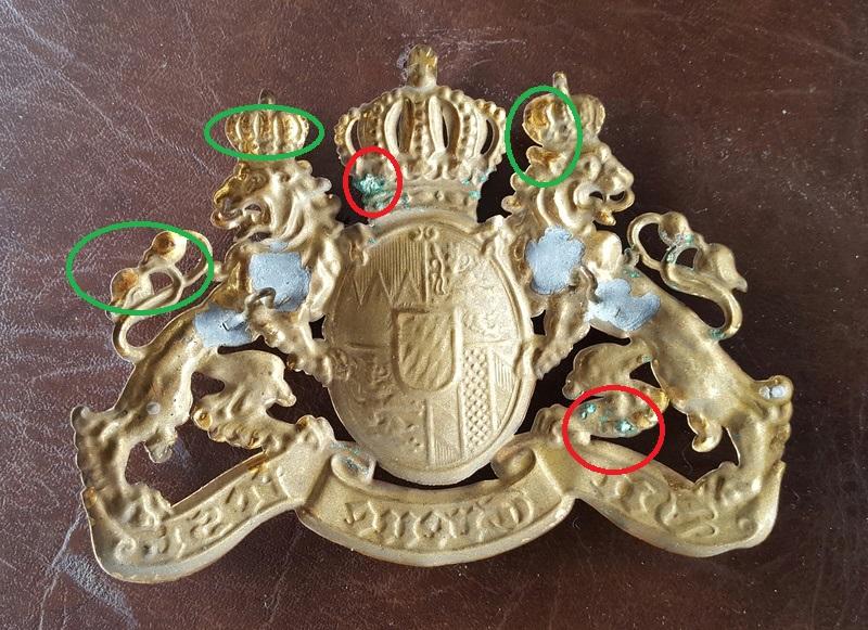authentifié une plaque de casque a pointe bavarois  20170710