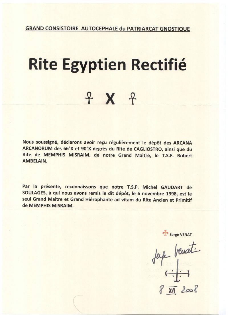Rite Egyptien Rectifié Regr10