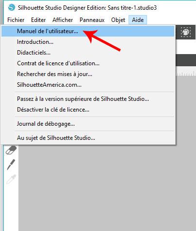 01 - Où trouver le manuel en français ? Comment changer la langue dans Silhouette Studio ? Sans_t10