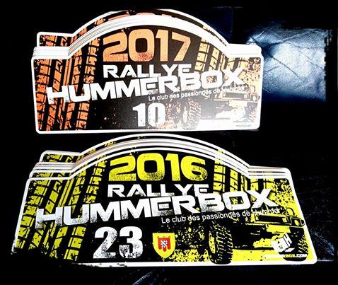 Plaque Rallye HUMMERBOX 2016 , 2017 et 2018 (2014 , 2015 épuisé ! devient Collector) 19248010