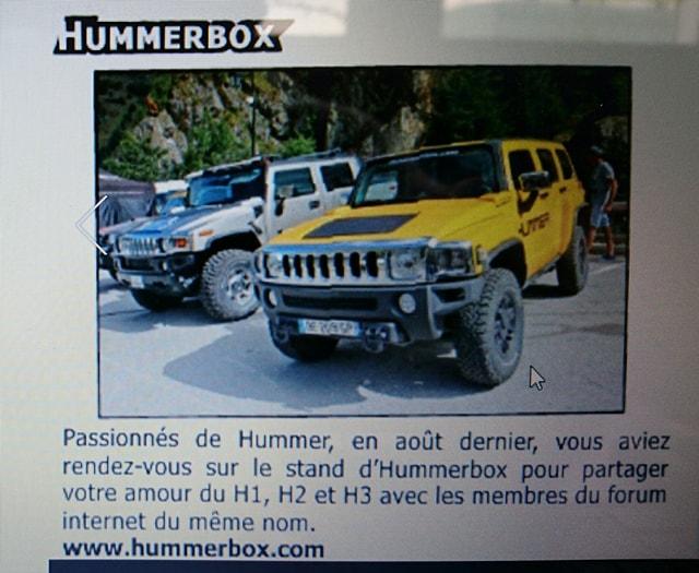 Le club Hummerbox dans le dernier numéro d'Offroad 4x4 Magazine est en ligne depuis le vendredi 22 septembre. 21979510