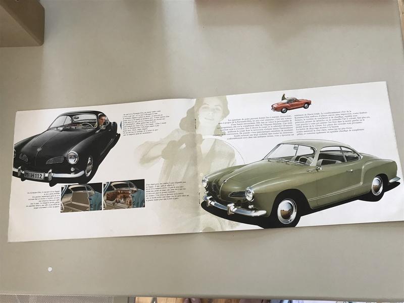 °° Nouveau prix °°  Rare catalogues Karmann Ghia 1961 °°  Fullsi10