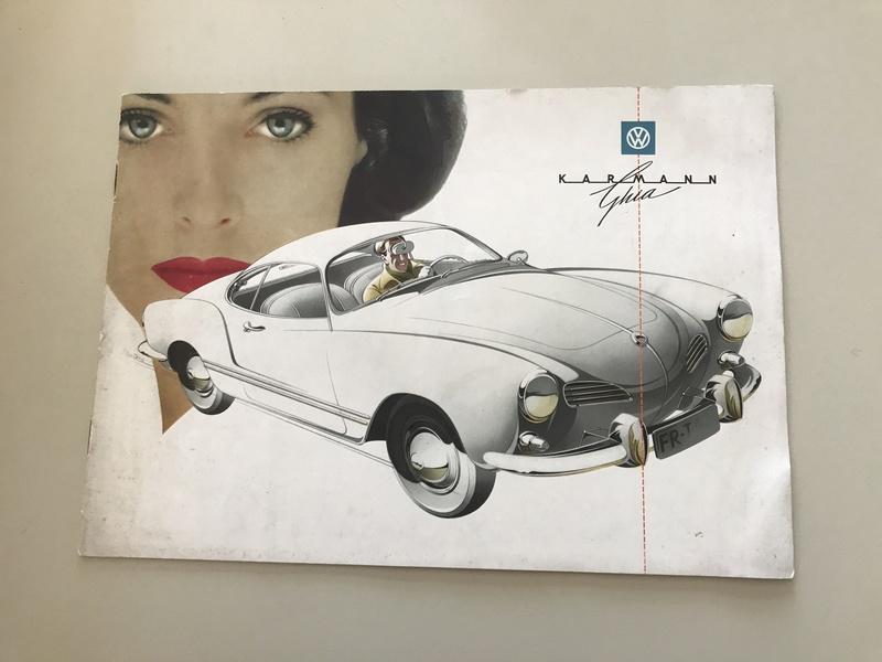 °° Nouveau prix °°  Rare catalogues Karmann Ghia 1961 °°  Fullsi11