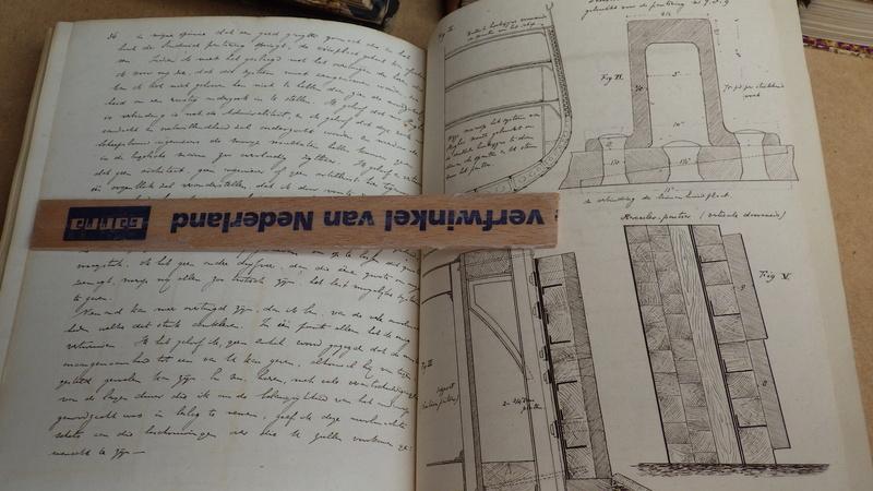 Manuscript (19 iéme siécle)Hollandais en 8 volumes traitant de l'artillerie. Rimg7435