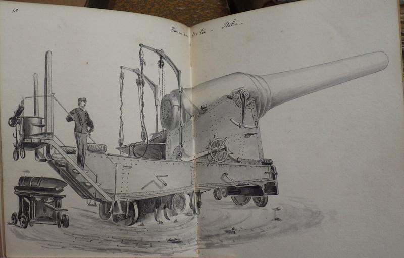 Manuscript (19 iéme siécle)Hollandais en 8 volumes traitant de l'artillerie. Rimg7436