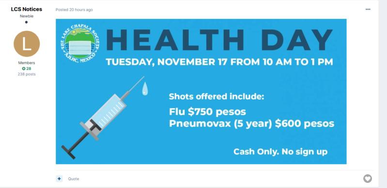 pneumovax at LCS Screen24
