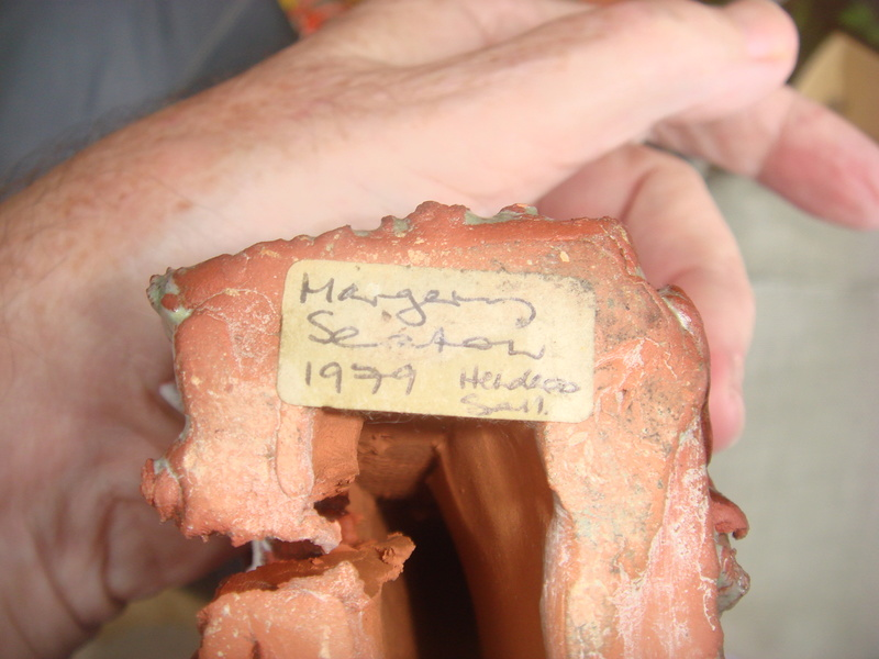 Pottery house signed Margery Seaton?  Copied19
