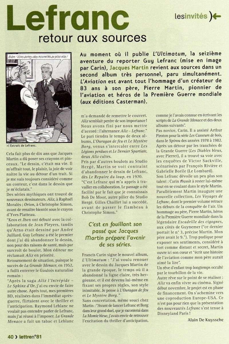 Interview, fanzines et articles divers sur Jacques Martin - Page 4 Lefran12
