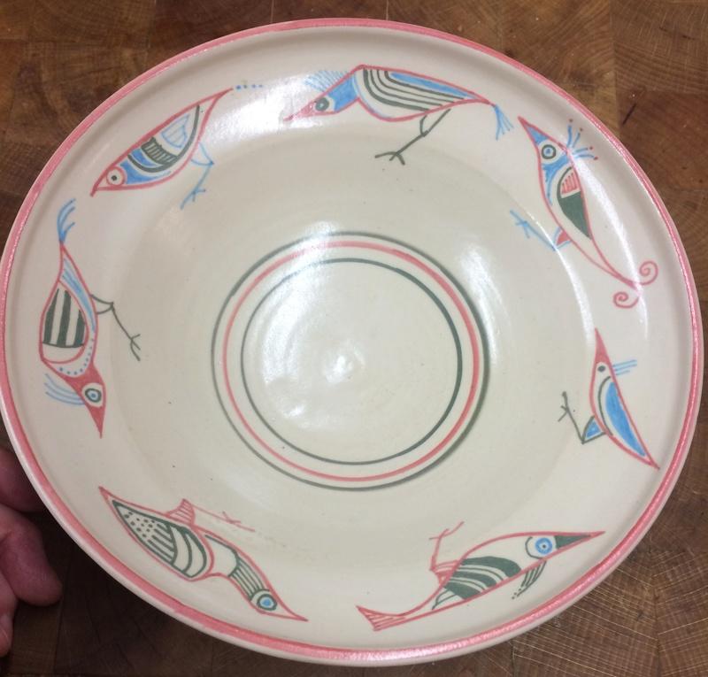 Bird bowl; floral or heart mark Img_2711