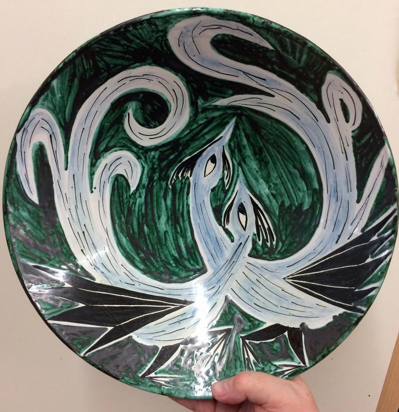 Bird plate by Edno, Denmark Img_6819