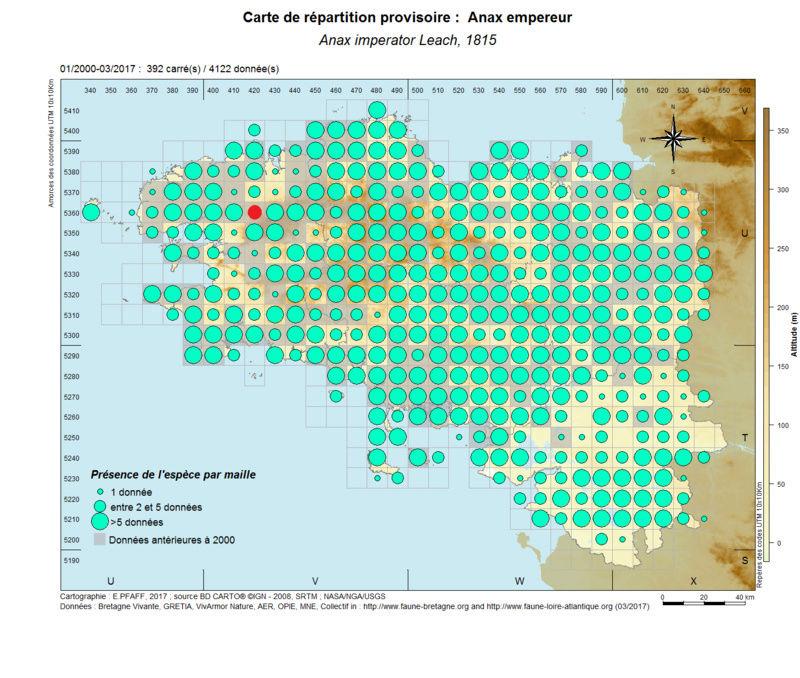 cartographies d'espèces très communes à compléter Anax_i10