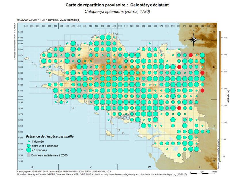 cartographies d'espèces très communes à compléter Calopt10