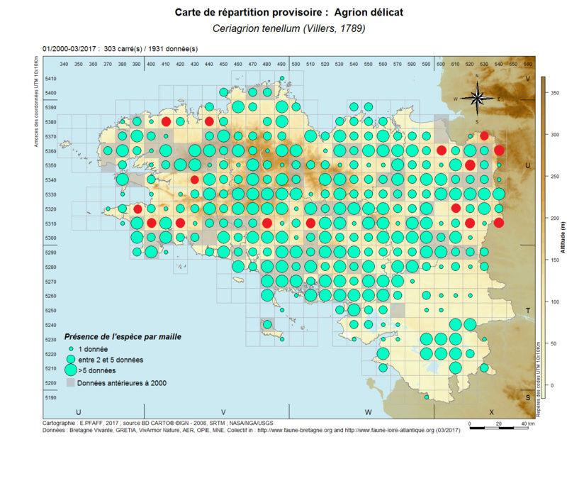 cartographies d'espèces très communes à compléter Ceriag18