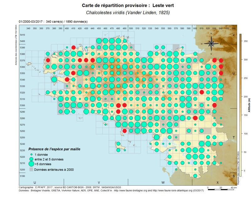 cartographies d'espèces très communes à compléter Chalco16