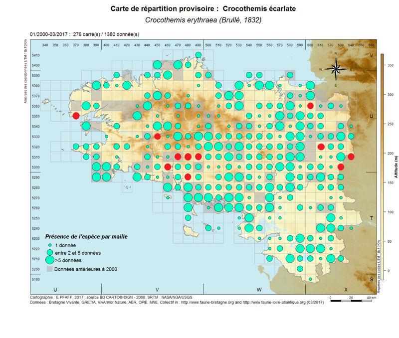 cartographies d'espèces très communes à compléter Crocot12