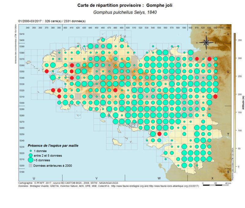 cartographies d'espèces très communes à compléter Gomphu14