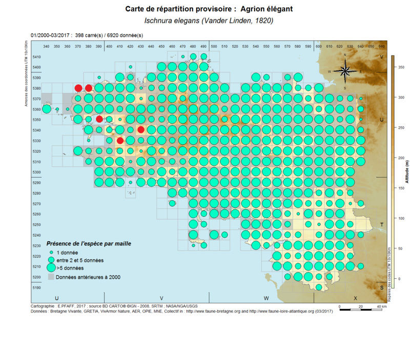 cartographies d'espèces très communes à compléter Ischnu16