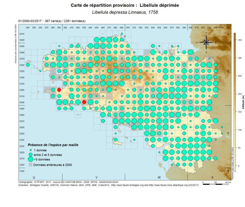 cartographies d'espèces très communes à compléter Libell18