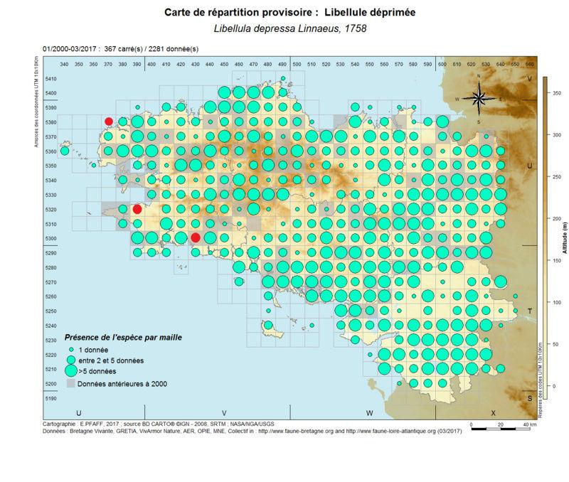 cartographies d'espèces très communes à compléter Libell19