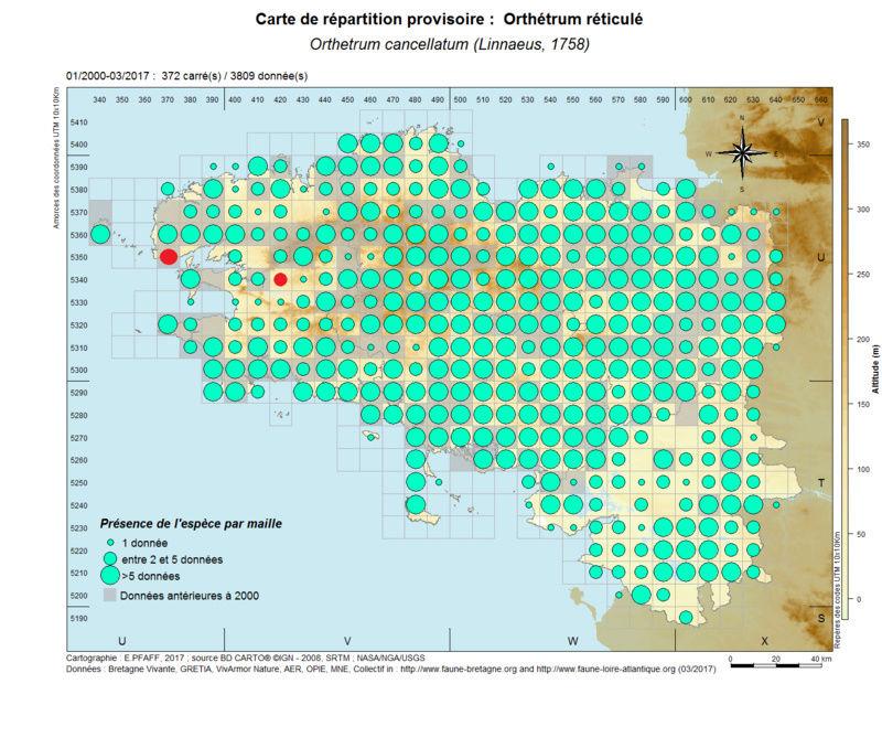 cartographies d'espèces très communes à compléter Orthet10