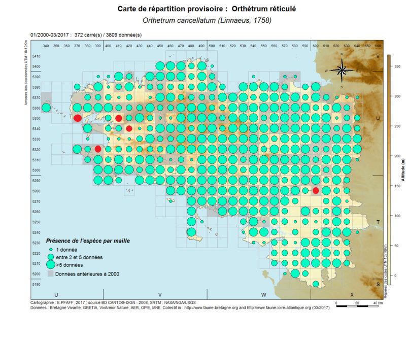 cartographies d'espèces très communes à compléter Orthet15
