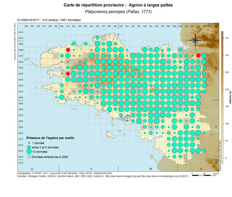 cartographies d'espèces très communes à compléter Platyc11