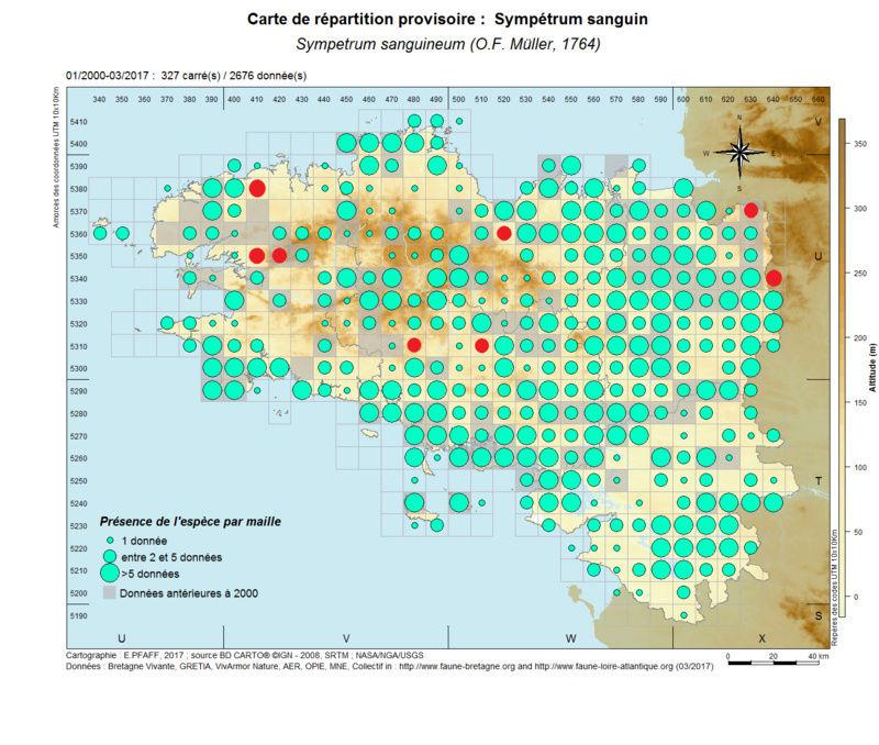 cartographies d'espèces très communes à compléter Sympet22
