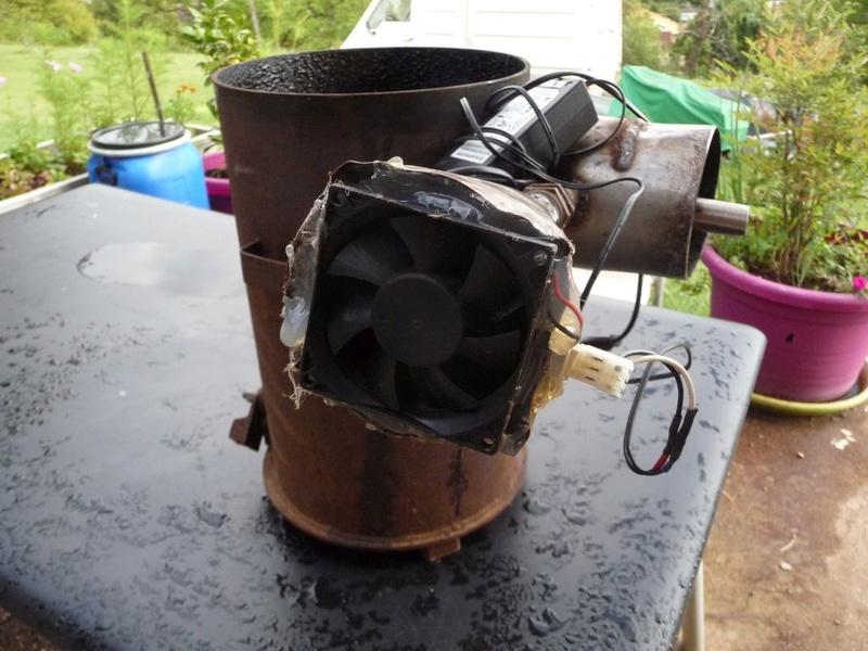 Fumoir à partir d'une bouteille gaz P1050012