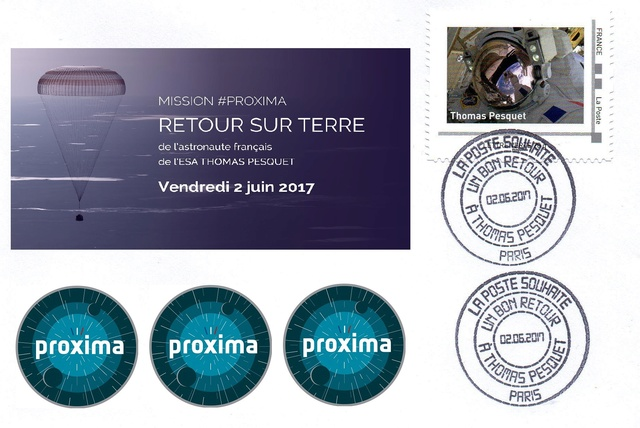 Mission Proxima de Thomas Pesquet - Émission philatélique de La Poste 2017_010