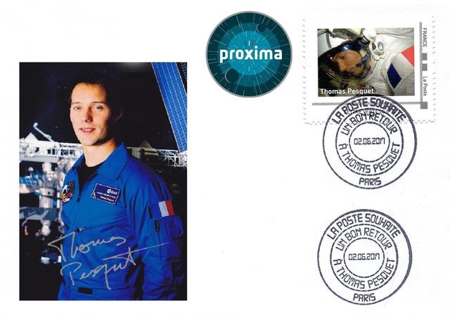 Mission Proxima de Thomas Pesquet - Émission philatélique de La Poste 2017_011