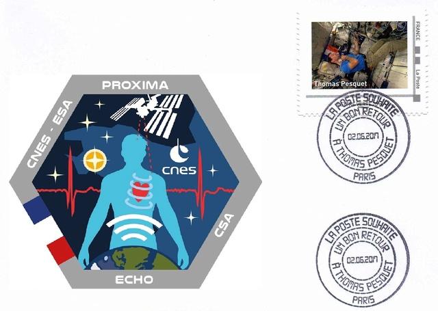 Mission Proxima de Thomas Pesquet - Émission philatélique de La Poste 2017_012