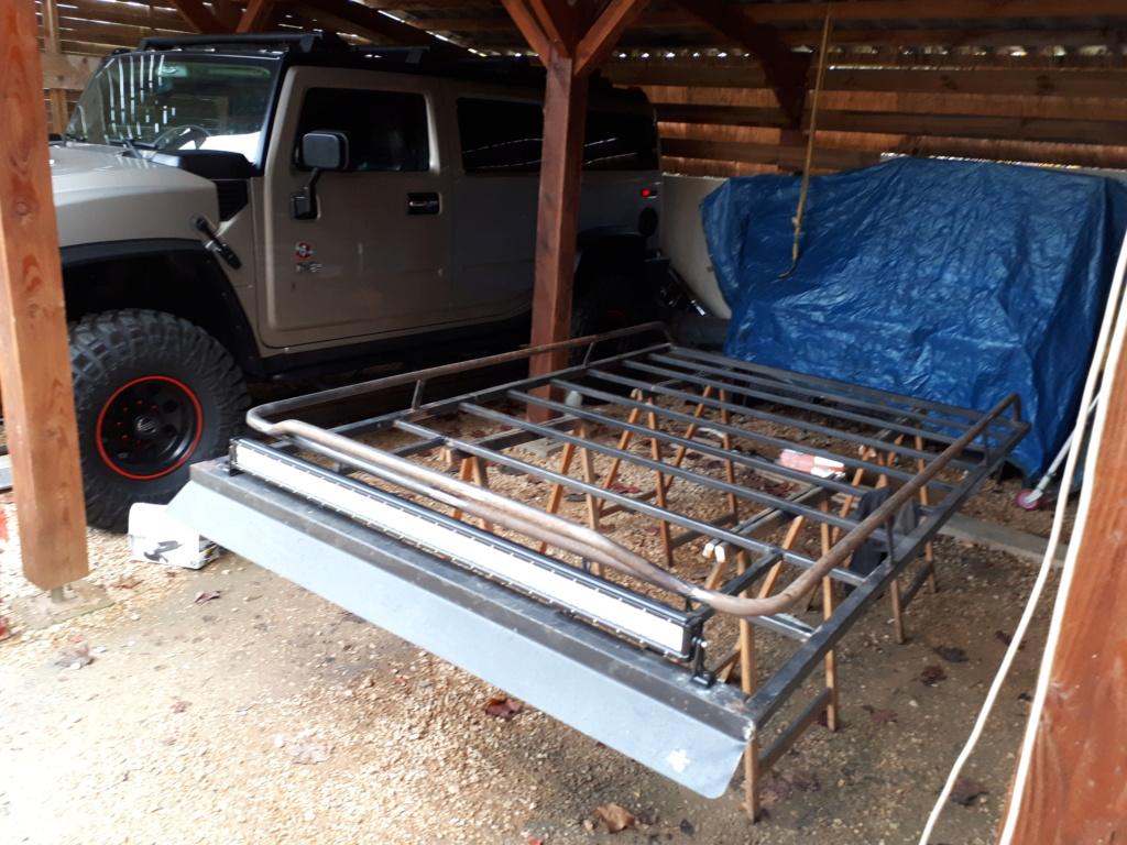 Fabrication galerie de toit Hummer H2 20181111