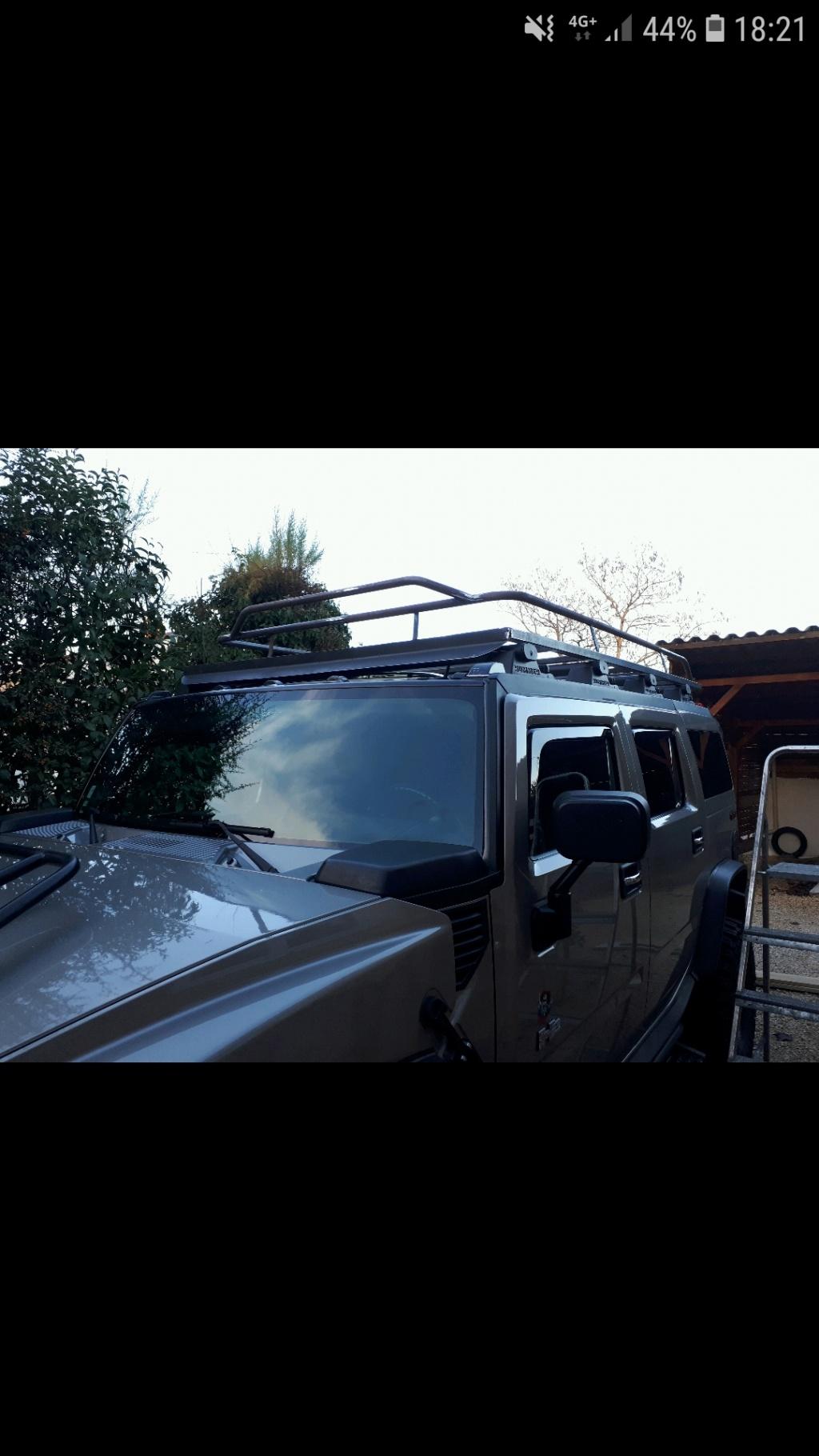 Fabrication galerie de toit Hummer H2 Screen10
