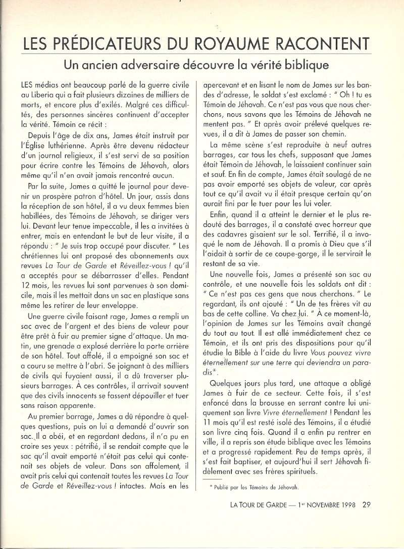Les proclamateurs  racontent Numari28