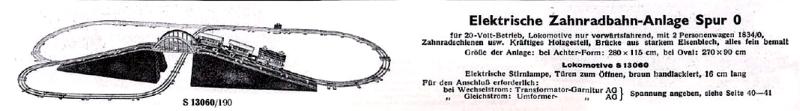 Märklin 0 avant guerre Zahnra10