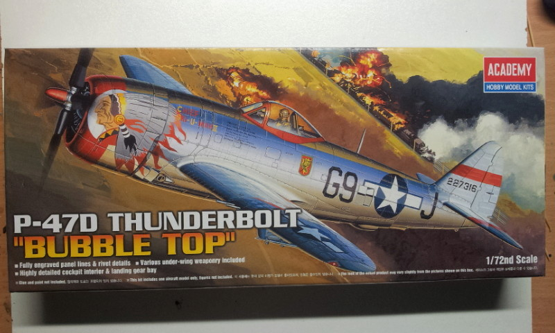 [Academy]P-47D Thunderbolt Bubble-Top 2016-115