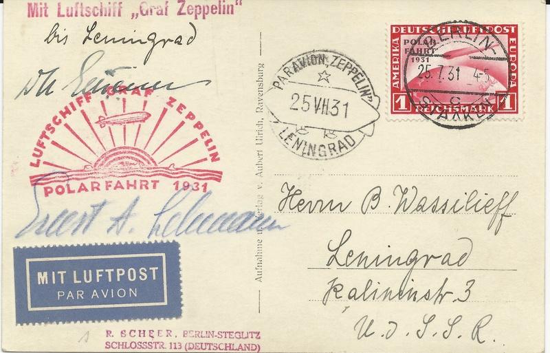 50 Jahre Polarfahrt Luftschiff Graf Zeppelin - Seite 3 Postka11