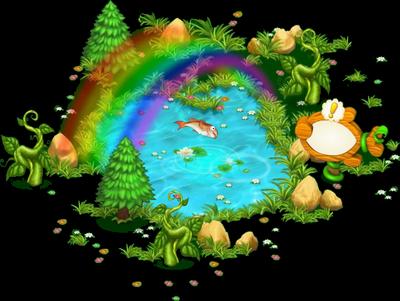L'étang à poissons [Dans le jardin fermier et aquatique] Sans_387