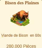 Bison des Plaines => Viande de Bison Sans_573