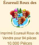 Écureuil Roux des Neiges => Imprimé Écureuil Roux des Neiges Sans_616