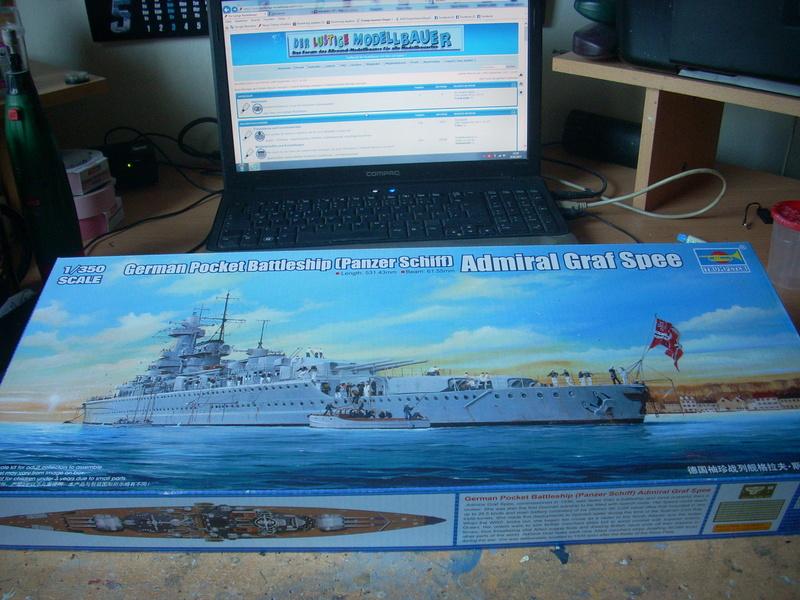 Panzerschiff Admiral Graf Spee von Trumpeter in 1:350 Dscn0024