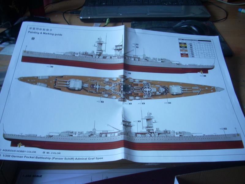 Panzerschiff Admiral Graf Spee von Trumpeter in 1:350 Dscn0029