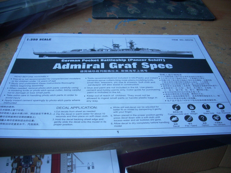 Panzerschiff Admiral Graf Spee von Trumpeter in 1:350 Dscn0030