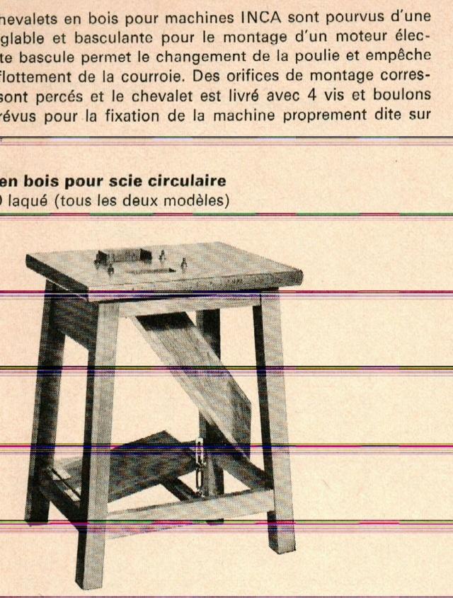 scie sur table Inca Cheval10