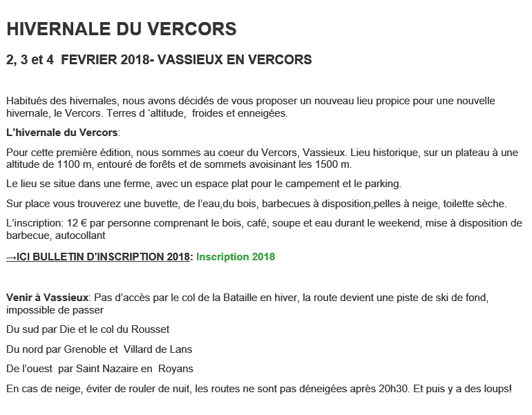HIVERNALE DU VERCORS - VASSIEUX EN VERCORS (26 )  les 2, 3 et 4  FEVRIER 2018 Hivern10